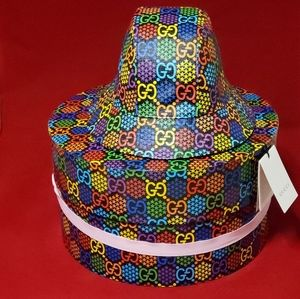 Unisex Gucci Psychedelic Bucket Hat w/ Tags & Box